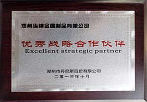 优秀合作战略伙伴