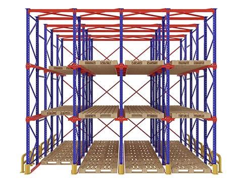 Analysis diagram of through shelf