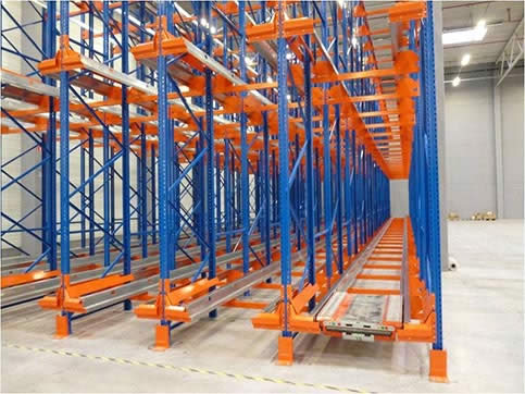 Shuttle storage shelves