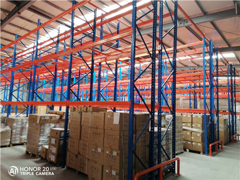 Site drawing of heavy beam rack installation in Luohe mobile warehouse (heavy beam rack installatio