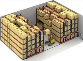 Storage electric mobile shelf