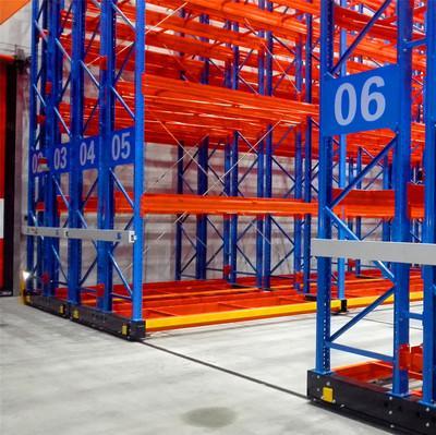 Warehouse electric mobile shelf