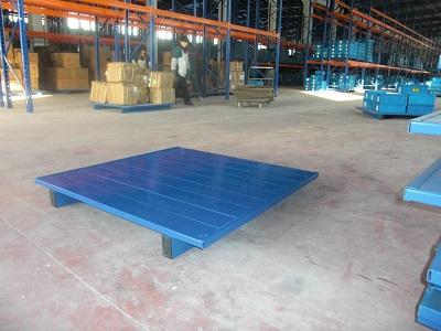 Flat steel tray