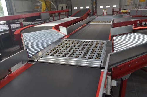 Inclined wheel sorting system