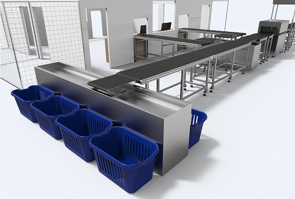 Reciprocating cross belt sorting system